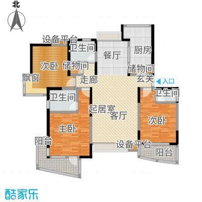 金沙雅苑(三期)124.00㎡房型: 三房; 面积段: 124 -139 平方米; 户型