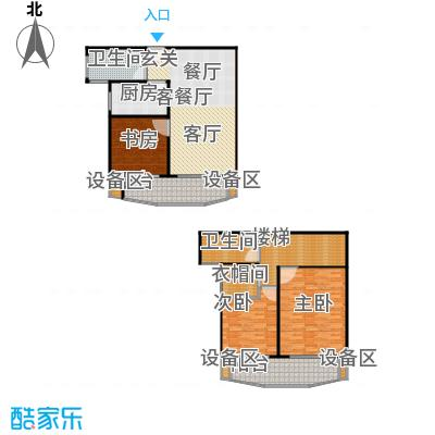 真情公寓(三期)168.00㎡房型: 复式; 面积段: 168 -168 平方米; 户型