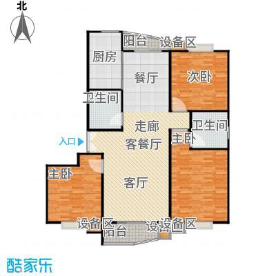 真情公寓(三期)138.00㎡房型: 三房; 面积段: 138 -138 平方米; 户型