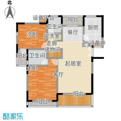 上海星港(一期)94.00㎡房型: 二房; 面积段: 94 -103 平方米;户型