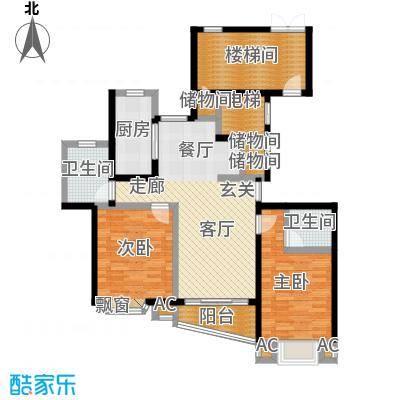 万景园(三期)98.00㎡房型: 二房; 面积段: 98 -103 平方米;户型