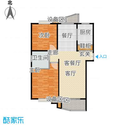 真情公寓(三期)112.00㎡房型: 二房; 面积段: 112 -114 平方米; 户型