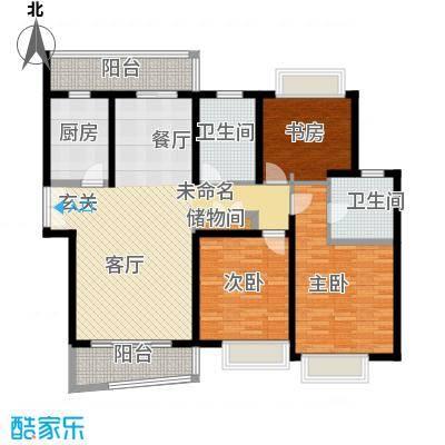 真情公寓(四期)129.50㎡房型: 三房; 面积段: 129.5 -146.2 平方米;户型