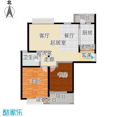 当代曹杨(中关村公寓)97.00㎡房型: 二房; 面积段: 97 -113 平方米; 户型