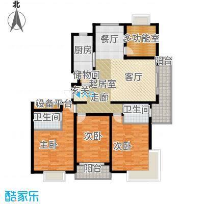 沁春园三村157.00㎡房型: 四房; 面积段: 157 -157 平方米; 户型