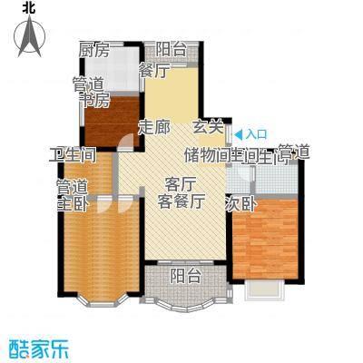 东苑半岛花园一期112.17㎡房型: 三房; 面积段: 112.17 -147.38 平方米; 户型