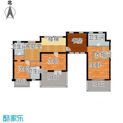 万科翡翠别墅173.00㎡A2别墅二层户型10室