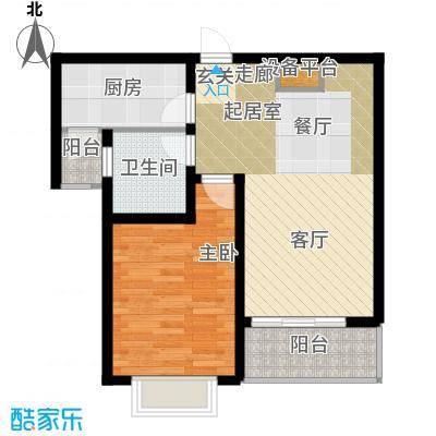 沁春园三村63.00㎡房型: 一房; 面积段: 63 -64 平方米; 户型