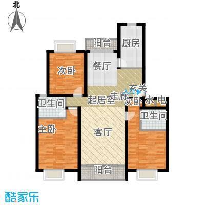 沁春园三村125.00㎡房型: 三房; 面积段: 125 -138 平方米; 户型