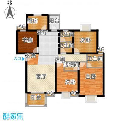 新青浦佳园140.08㎡房型户型