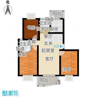 上海映象一期房型户型3室2卫1厨
