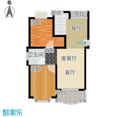 东苑世纪名门花园房型户型2室1厅1卫