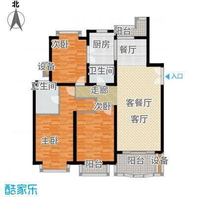 东苑世纪名门花园房型户型3室1厅2卫1厨