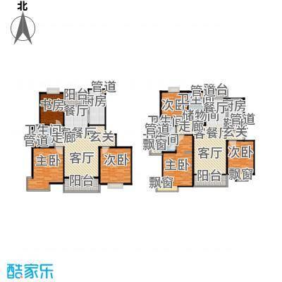 岭南翠庭97.00㎡房型户型