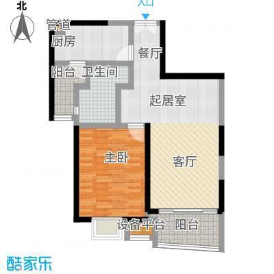 慧芝湖花园(一期)70.00㎡房型: 一房; 面积段: 70 -80 平方米;户型