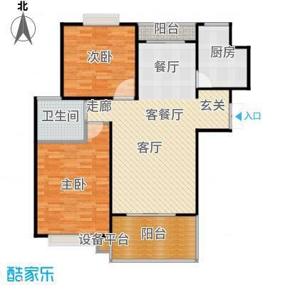 大华阳城花园(五期)92.53㎡房型: 二房; 面积段: 92.53 -105.56 平方米;户型