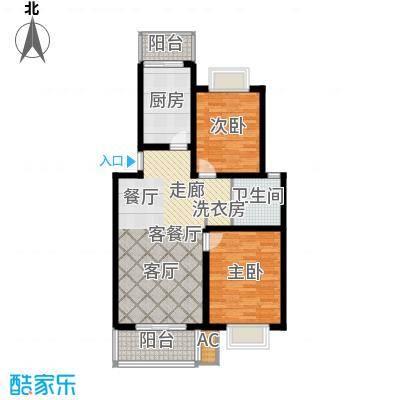 大华阳城花园(三期)88.60㎡房型: 二房; 面积段: 88.6 -98.17 平方米; 户型