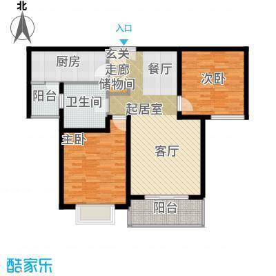 新梅共和城二期90.90㎡房型: 二房; 面积段: 90.9 -93.78 平方米;户型