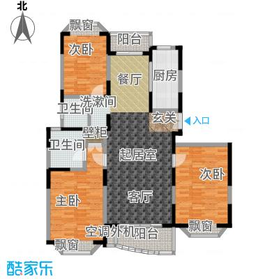 新理想家园一期132.07㎡房型: 三房; 面积段: 132.07 -141.3 平方米; 户型