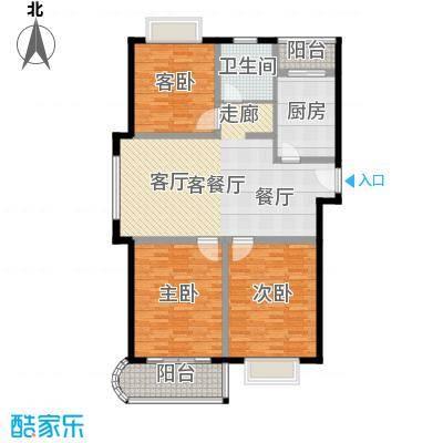 申地公寓二期房型: 三房; 面积段: 118 -154 平方米; 户型