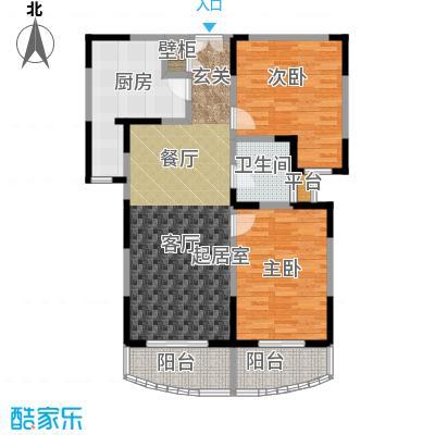 新理想家园一期107.53㎡房型: 二房; 面积段: 107.53 -136.78 平方米;户型