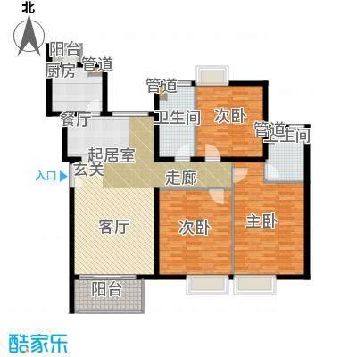新梅共和城一期房型: 三房; 面积段: 101 -137 平方米; 户型