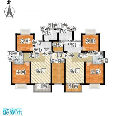 新梅共和城一期86.00㎡房型: 二房; 面积段: 86 -93 平方米;户型