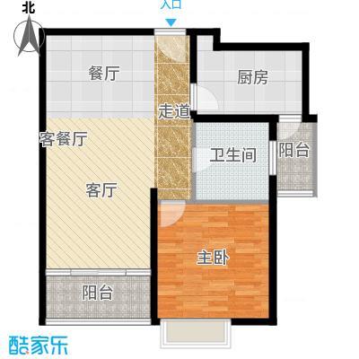 嘉里不夜城房型户型1室1厅1卫1厨