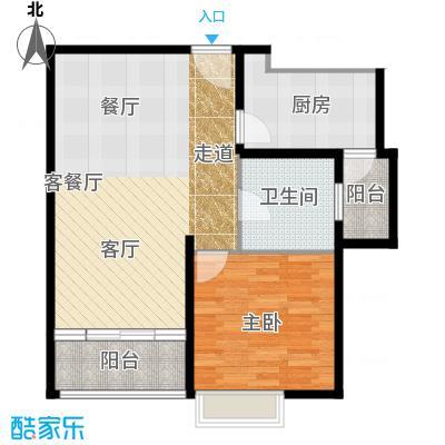 嘉里不夜城--32套-闸北房地(2009)预字0377号户型1室1厅1卫1厨