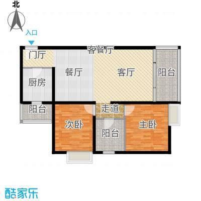 嘉里不夜城房型户型2室1厅1厨