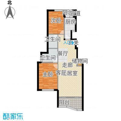 海伦都市佳苑87.00㎡房型: 二房; 面积段: 87 -110 平方米; 户型