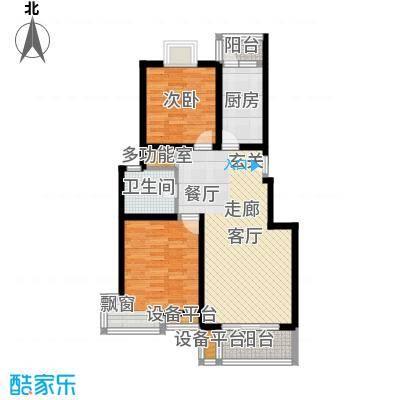 荣振馨苑房型: 二房; 面积段: 80 -90 平方米; 户型