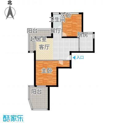 瑞虹新城�庭平层05-户型2室1卫1厨