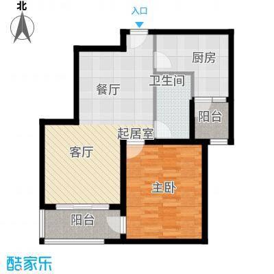瑞虹新城�庭平层户型1室1卫1厨