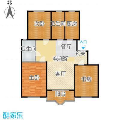 虹口玫瑰苑104.10㎡房型: 三房; 面积段: 104.1 -107.71 平方米; 户型