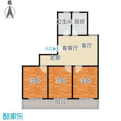 虹北公寓房型户型3室1厅1卫1厨