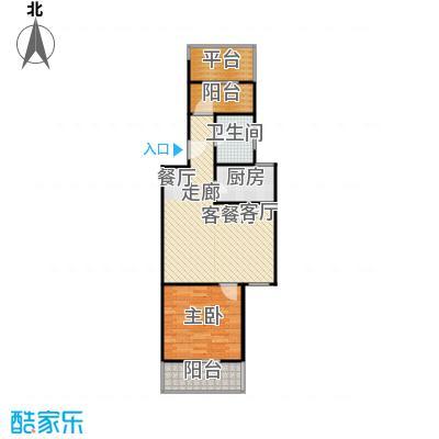 虹北公寓房型户型1室1厅1卫1厨