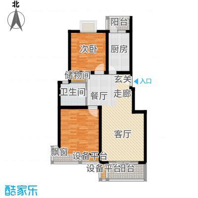 荣振馨苑房型: 二房; 面积段: 90 -100 平方米; 户型