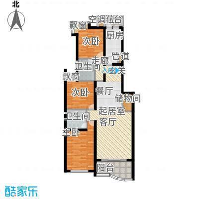 海伦都市佳苑108.00㎡房型: 三房; 面积段: 108 -131 平方米; 户型