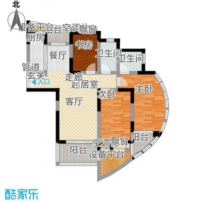 万峰梦湖苑二期88.00㎡房型: 二房; 面积段: 88 -106 平方米; 户型
