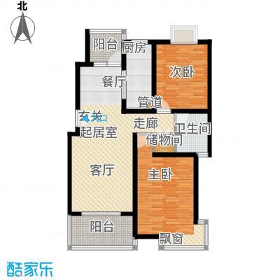 一品新筑一期94.66㎡房型: 二房; 面积段: 94.66 -104.93 平方米; 户型