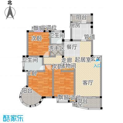 万峰梦湖苑二期127.00㎡房型: 三房; 面积段: 127 -147 平方米; 户型