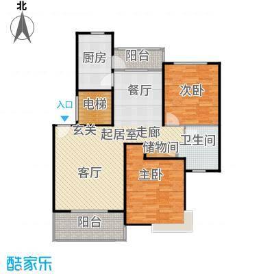良辰美景三期103.00㎡房型: 二房; 面积段: 103 -111 平方米;户型