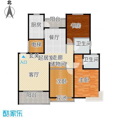 良辰美景三期116.00㎡房型: 三房; 面积段: 116 -135 平方米;户型
