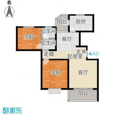 虹韵家园96.60㎡房型: 二房; 面积段: 96.6 -96.6 平方米; 户型