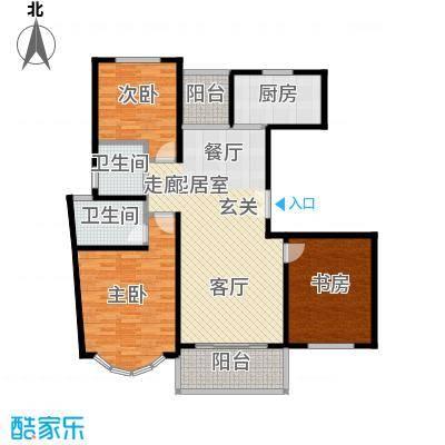 虹韵家园116.30㎡房型: 三房; 面积段: 116.3 -116.3 平方米; 户型
