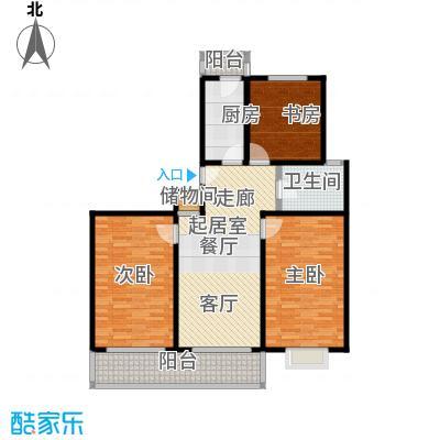 科兴公寓房型户型3室1卫1厨