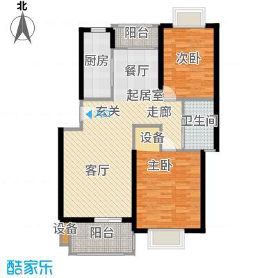 申润江涛苑90.00㎡房型: 二房; 面积段: 90 -100 平方米; 户型