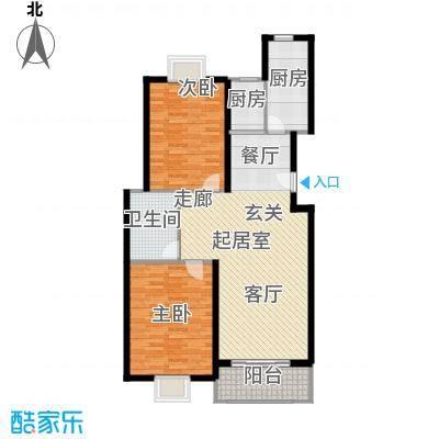 申润江涛苑100.00㎡房型: 二房; 面积段: 100 -110 平方米; 户型