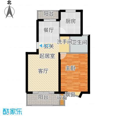 申润江涛苑70.00㎡房型: 一房; 面积段: 70 -80 平方米; 户型